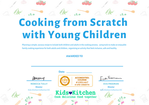 Cook from Scratch with Young Children certificate