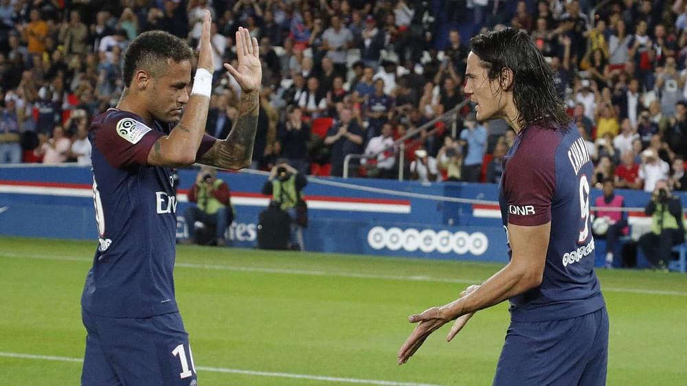 Neymar e Cavani, antes das desavenças