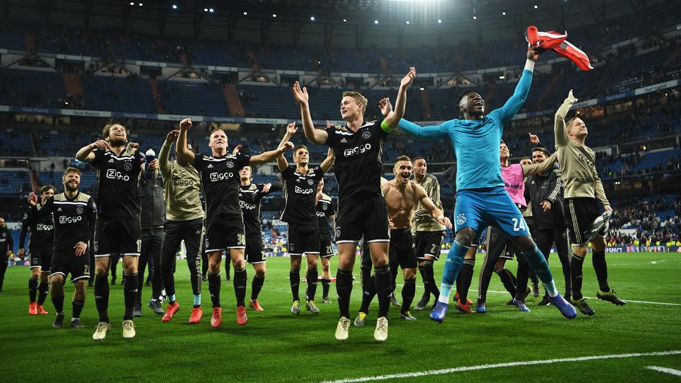 Ajax foi o dono da festa no Santiago Bernabéu
