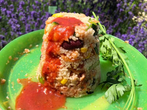 Kids Kitchen Online:  31st March.  Couscous Volcanoes