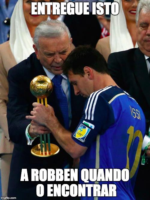 Atuação de Robben na Copa rendeu meme com Messi