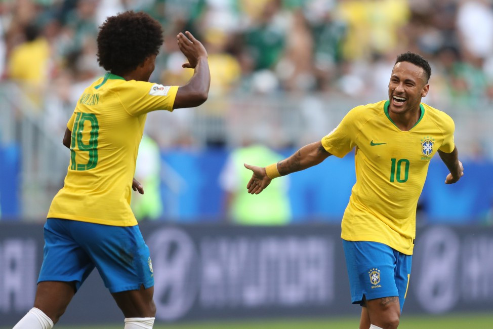 Willian e Neymar comandaram a vitória sobre o México