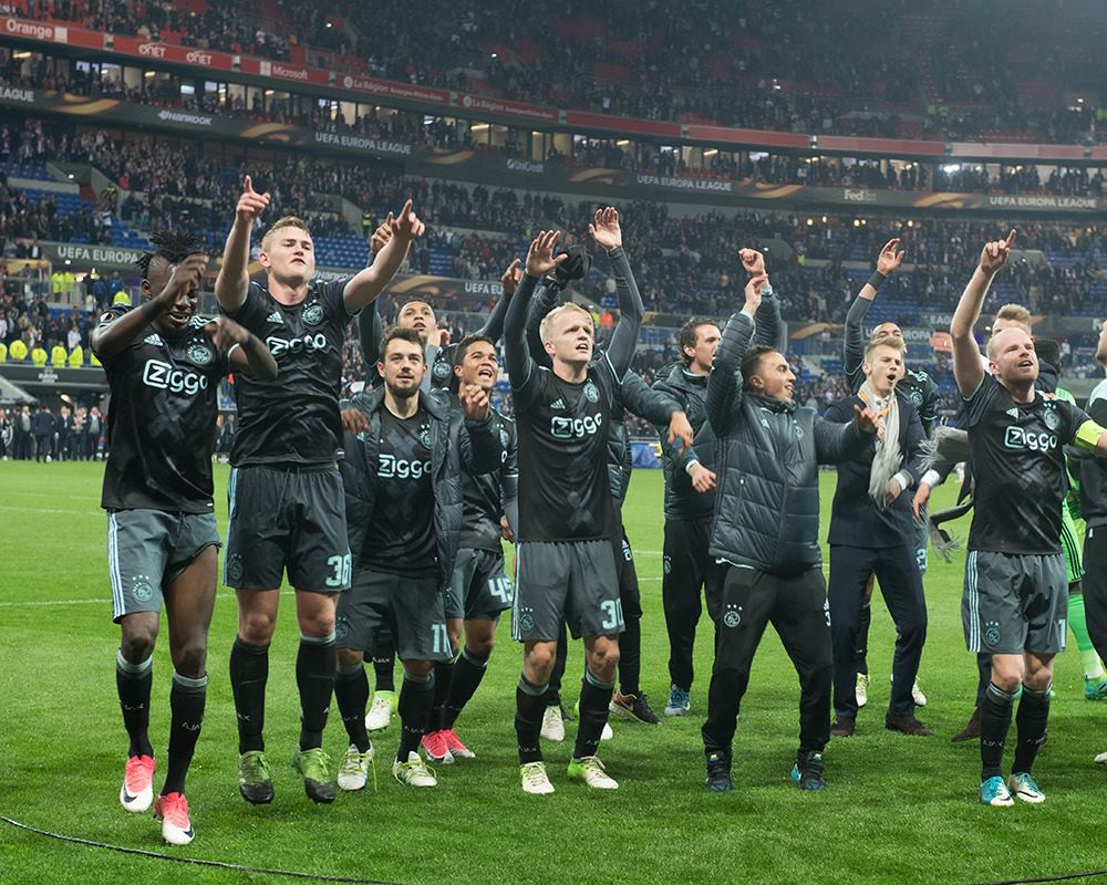 Ajax comemora classificação à final da Liga Europa