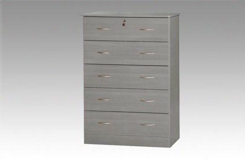 Grey 5 Drawer Chest
