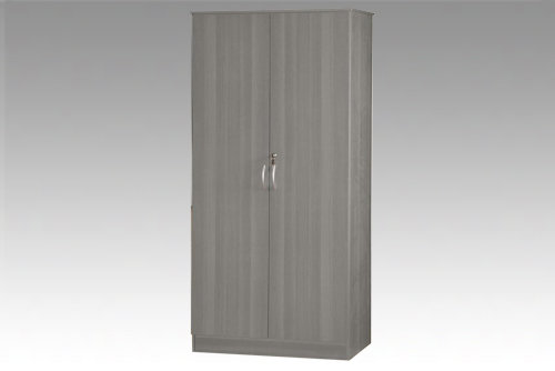 Grey 2 Door Wardrobe