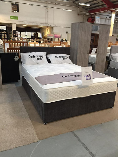 Cadiz Bed Set Slate Grey - With Drawers & Headboard