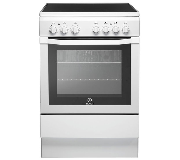 New Indesit 60cm Single Oven Electric Cooker  (I6VV2AW)