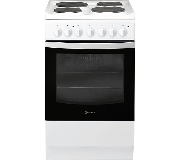 New Indesit 50 cm Electric Solid Plate Cooker  (IS5E4KHW)