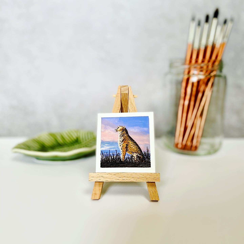 Mini Painting - African Cheetah