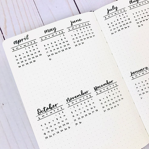 Black & White Bullet Journal - Future Lo