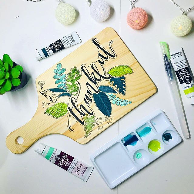 Handpainted Cutting Board