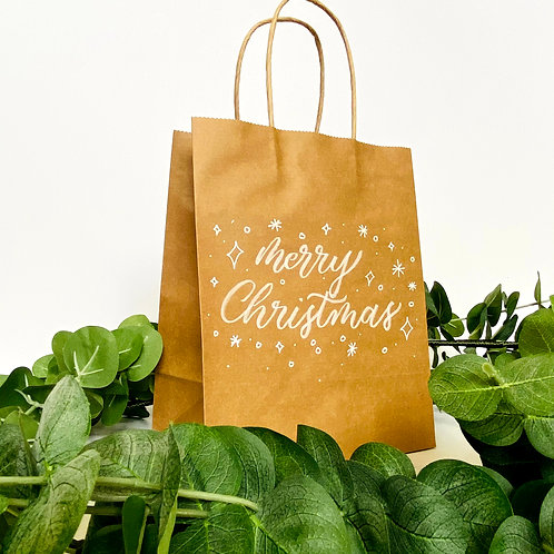 Set of 5 Craft Personalized Calligraphy Message Medium 8x10 Gift Bags