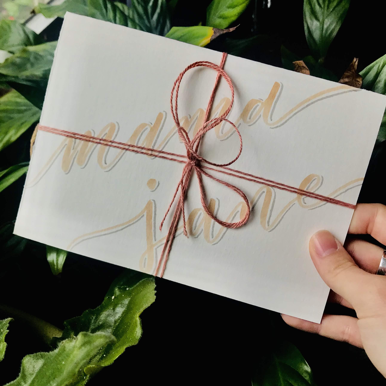 Handlettered Birthday Card