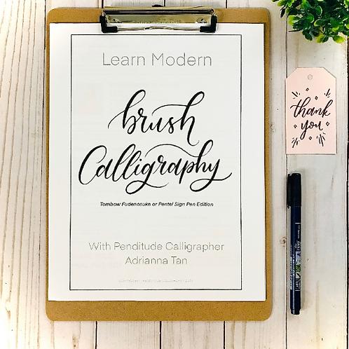 Brush Calligraphy Workbook - DIGITAL