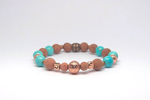 """Roségold Edition """"Brown Turquoise"""""""