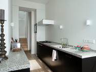 Keuken met terrazzo werkbladen