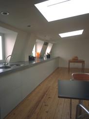keuken op de dakverdieping