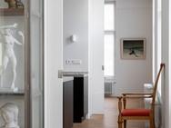 Enfilade woonkamer - keuken - werkkamer