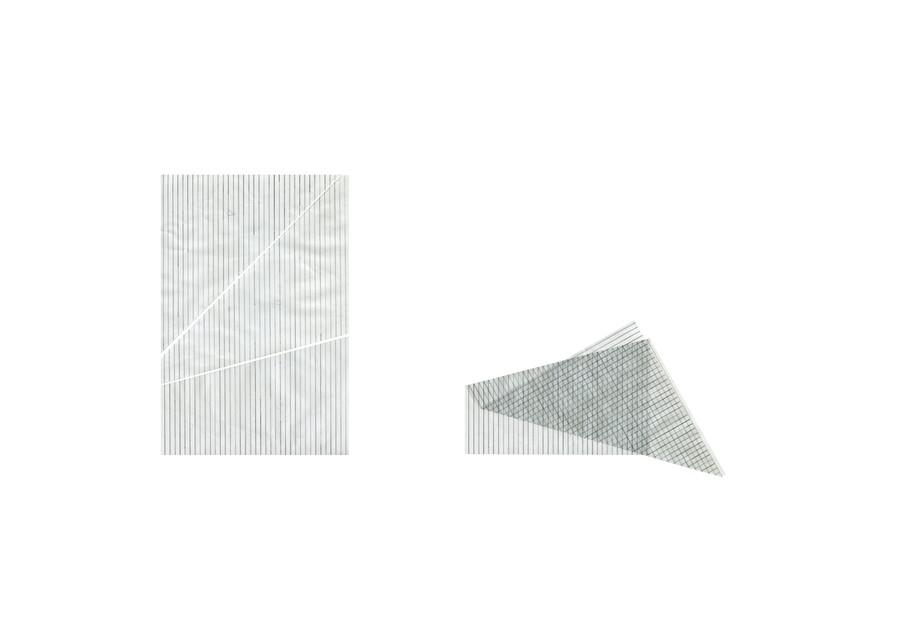 lignes de plis, coupures
