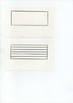 Rectangle tracé au crayon de couleur.