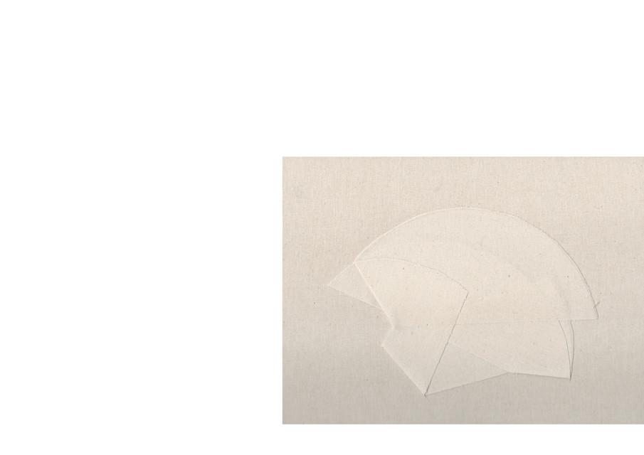 cercle en coton sur toile agrafée