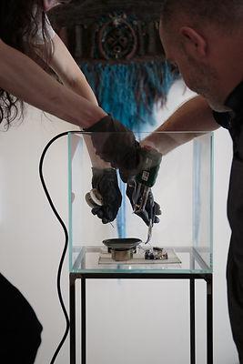sculpture sonore Barbara Carnevale Galerie Françoiose Besson