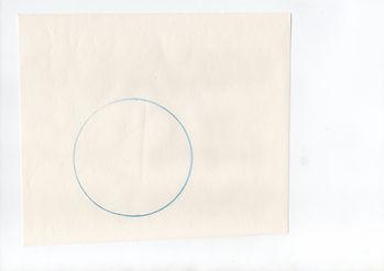 Scan d'un cercle tracé au crayon