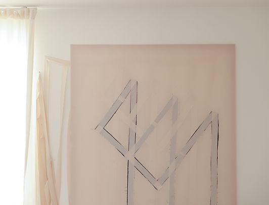 Toile textile représentant un rectangle replié.