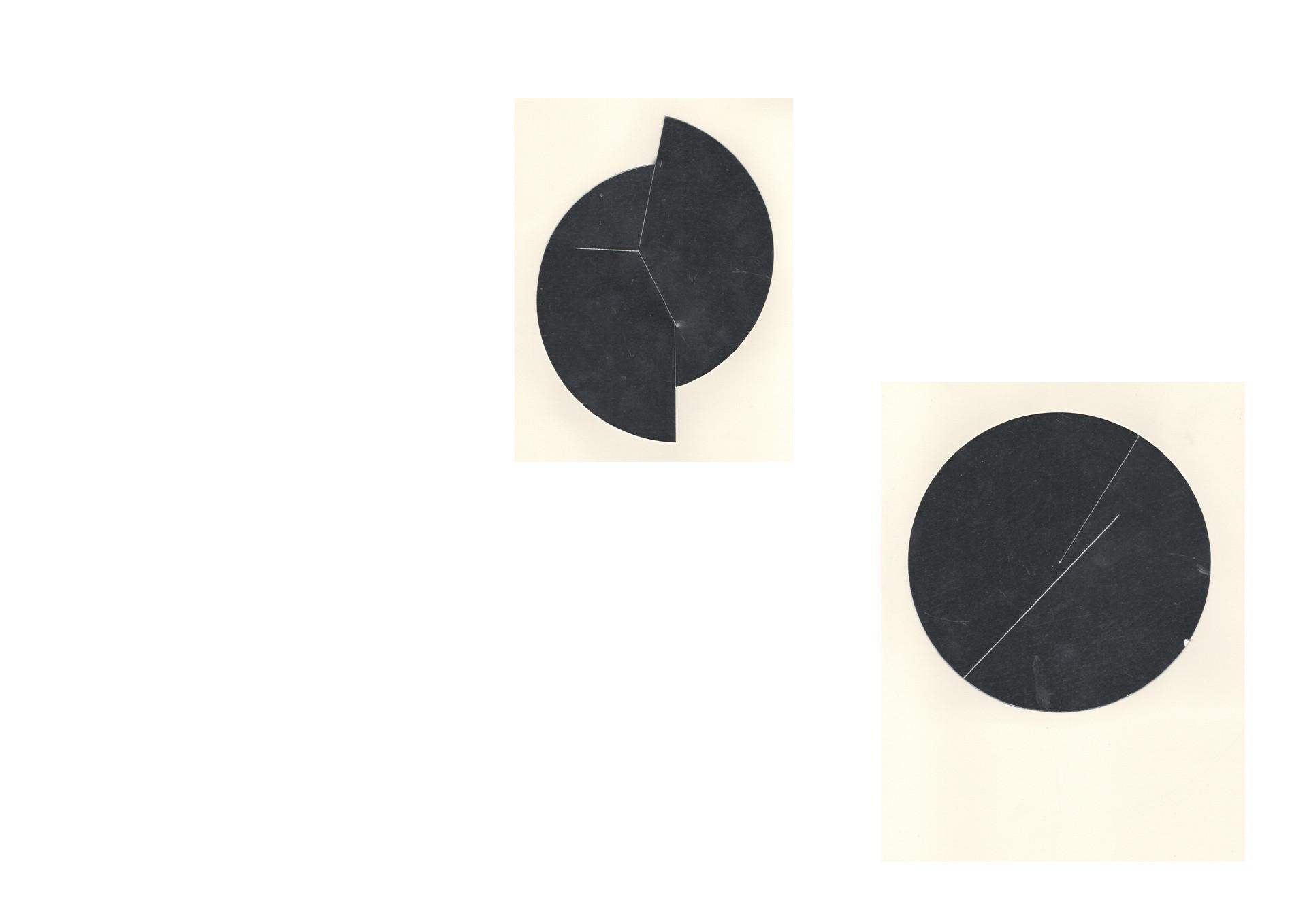cercle coupé et plié en lui même