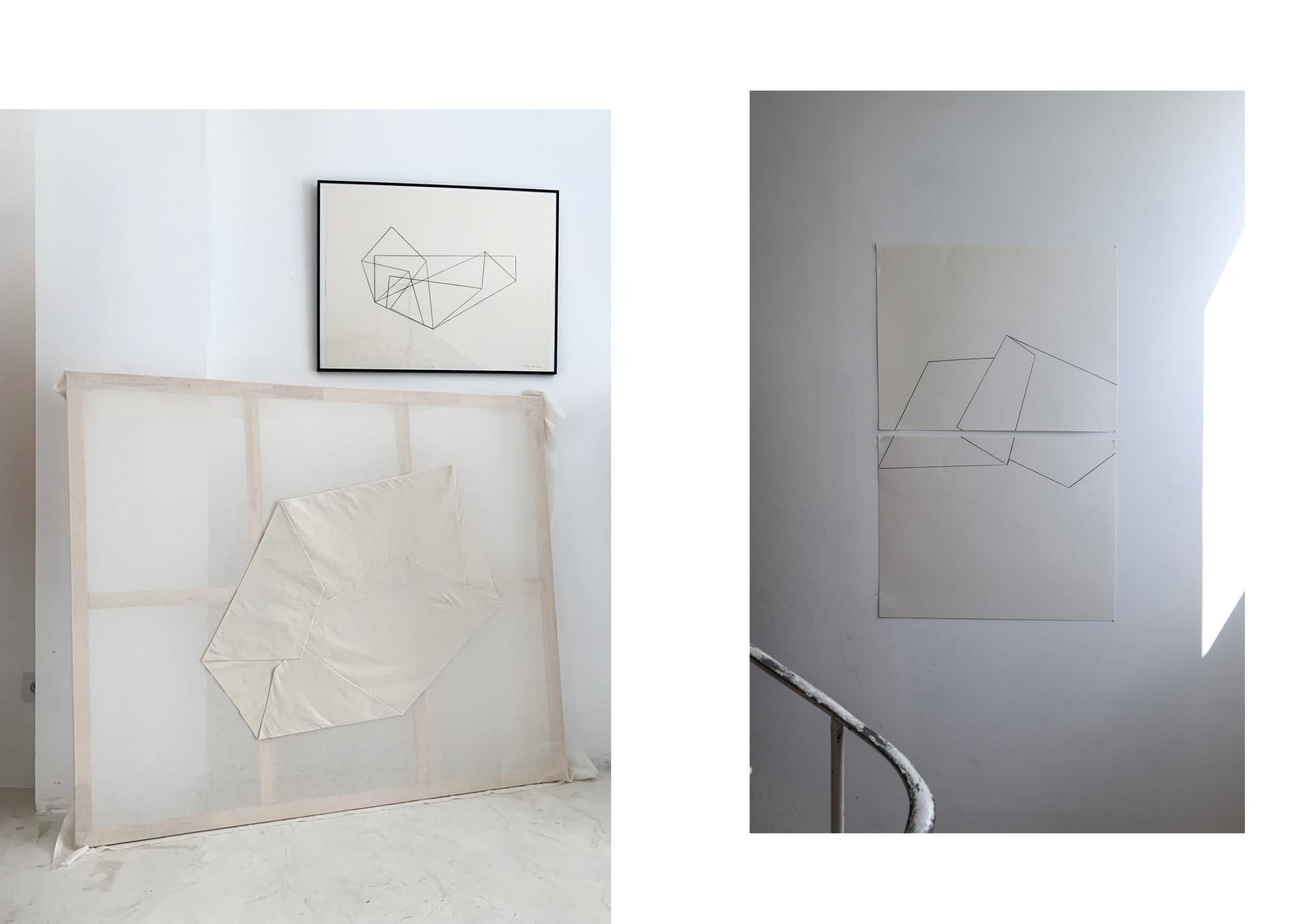 pli textile et représentation d'un pli