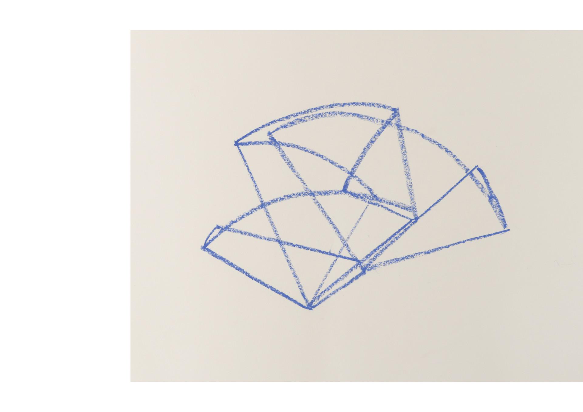 topographie d'un calque plié