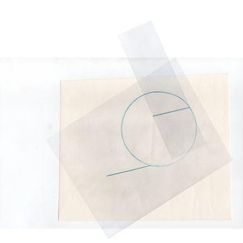 Cercle et lignes superposés digitalement.