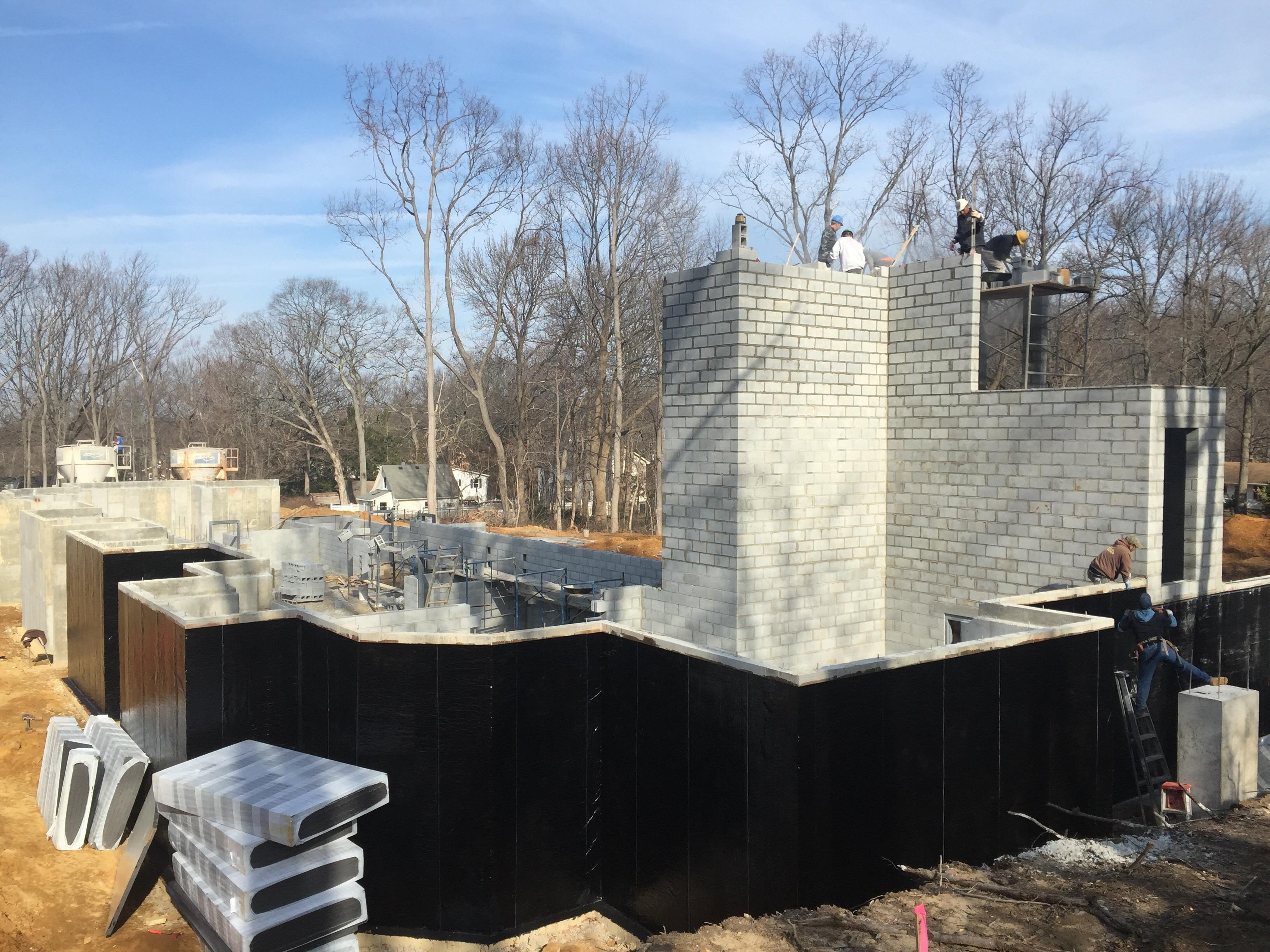 waterproofing & block work