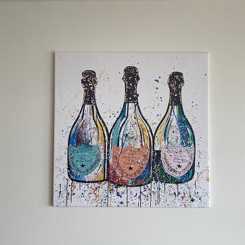 Schilderij Poppin Bottles