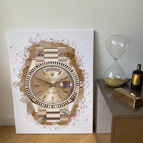 Schilderij Gold Day-Date