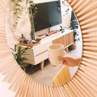 copo em espelho sol sustentável hashis reciclados
