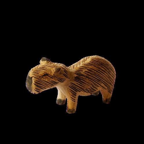 Capivara Miniatura em Madeira