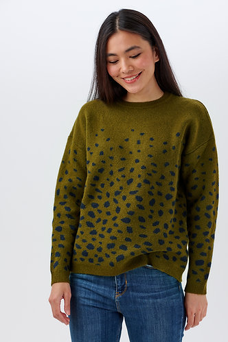 Livvy Abstract Spot Sweater