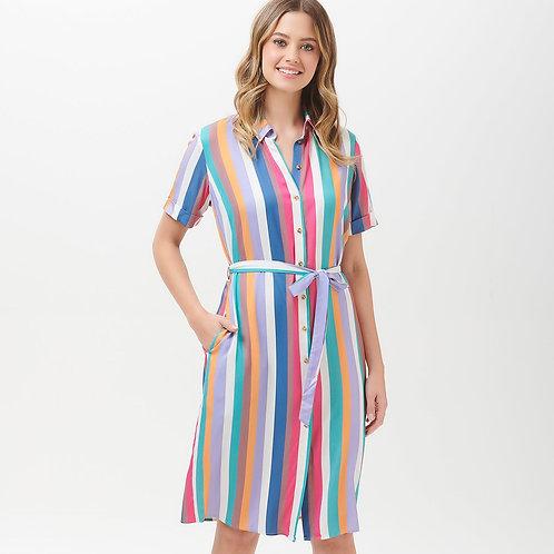 Justine cruise stripe shirt dress