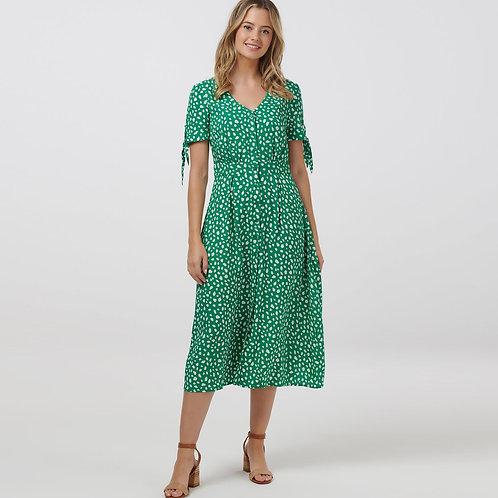 Hermione Painterly Spot Midi Dress