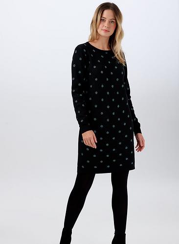 Evie Sparkle Spot Knit Dress