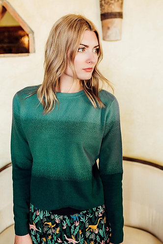 Becka forest ombre sweater