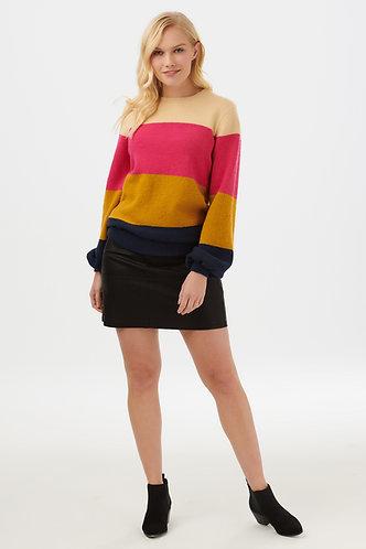 Zuri Block Stripe Sweater