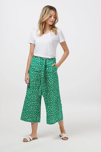 Ottilie Painterly spot cropped wide leg Trouser