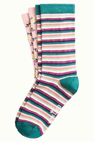 Savannah Granny Pink Socks