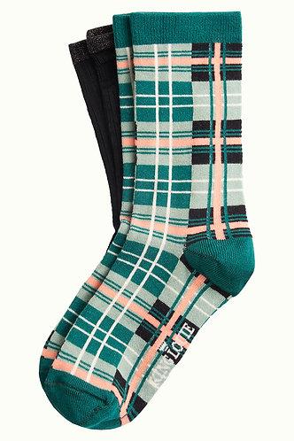 Soleil Check Socks