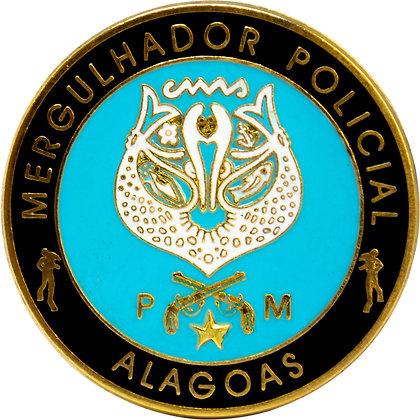 DISTINTIVO PMAL MERGULHADOR POLICIAL