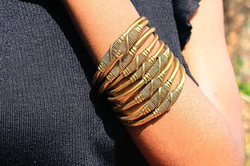 Brass spiral bracelets