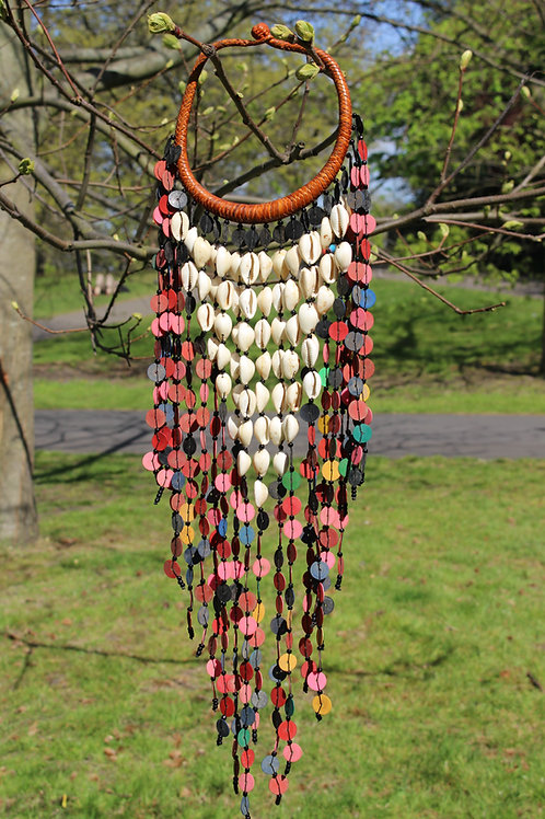 Cowrie inset necklace