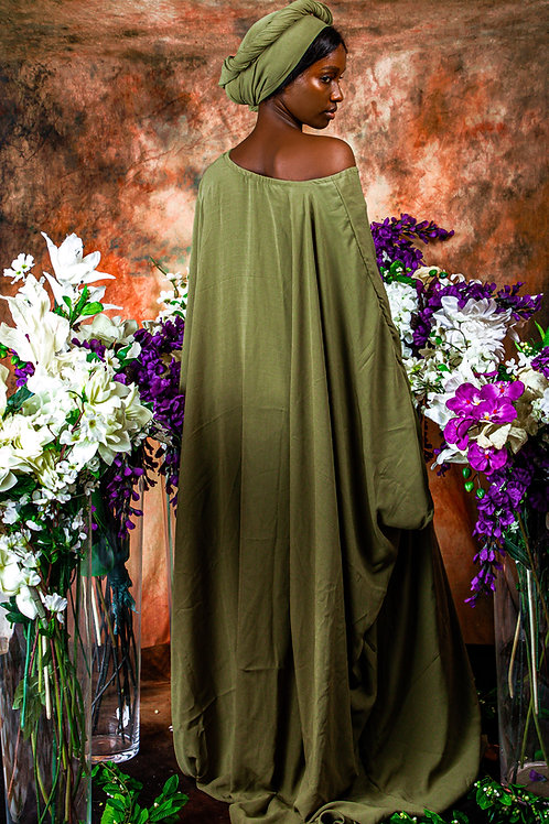 Olive Green Gown